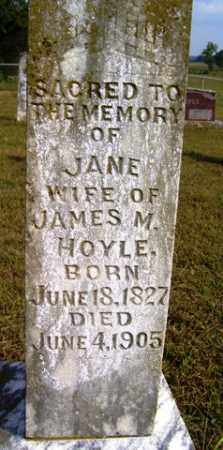 PENDERGRASS HOYLE, JANE - Franklin County, Arkansas | JANE PENDERGRASS HOYLE - Arkansas Gravestone Photos