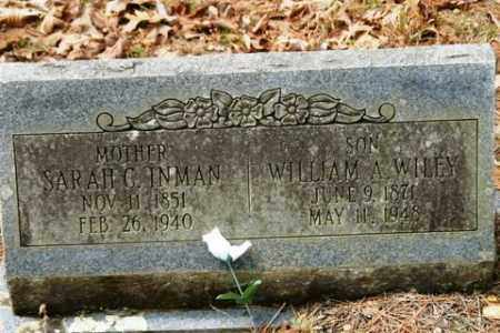 WILEY, WILLIAM A - Franklin County, Arkansas | WILLIAM A WILEY - Arkansas Gravestone Photos