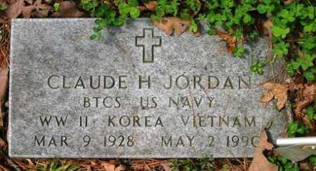 JORDAN (VETERAN 3 WARS), CLAUDE H - Franklin County, Arkansas | CLAUDE H JORDAN (VETERAN 3 WARS) - Arkansas Gravestone Photos