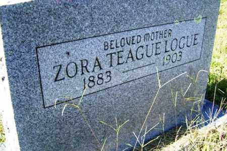TEAGUE LOGUE, ZORA - Franklin County, Arkansas | ZORA TEAGUE LOGUE - Arkansas Gravestone Photos