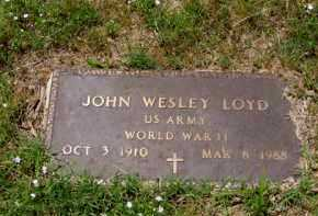 LOYD (VETERAN WWII), JOHN WESLEY - Franklin County, Arkansas | JOHN WESLEY LOYD (VETERAN WWII) - Arkansas Gravestone Photos
