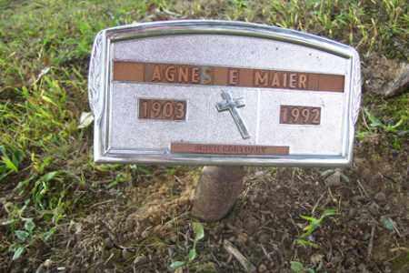 MAIER, AGNES E - Franklin County, Arkansas | AGNES E MAIER - Arkansas Gravestone Photos