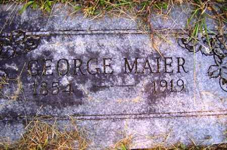 MAIER, GEORGE - Franklin County, Arkansas | GEORGE MAIER - Arkansas Gravestone Photos