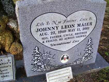 MAIER, JOHNNY LEON - Franklin County, Arkansas | JOHNNY LEON MAIER - Arkansas Gravestone Photos