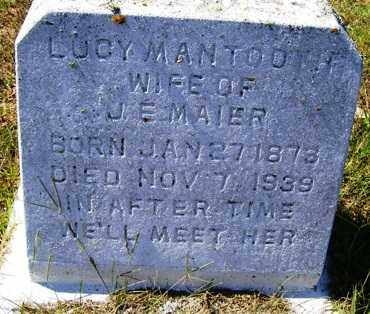 MANTOOTH MAIER, LUCY - Franklin County, Arkansas | LUCY MANTOOTH MAIER - Arkansas Gravestone Photos