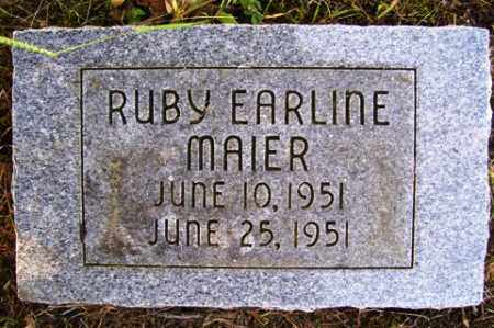 MAIER, RUBY EARLINE - Franklin County, Arkansas | RUBY EARLINE MAIER - Arkansas Gravestone Photos