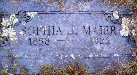 MAIER, SOPHIA J. - Franklin County, Arkansas | SOPHIA J. MAIER - Arkansas Gravestone Photos