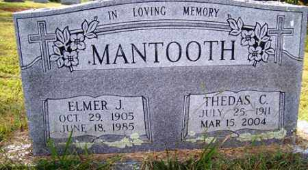 MANTOOTH, ELMER J - Franklin County, Arkansas | ELMER J MANTOOTH - Arkansas Gravestone Photos