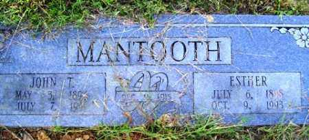 MANTOOTH, ESTHER - Franklin County, Arkansas | ESTHER MANTOOTH - Arkansas Gravestone Photos