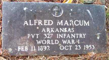 MARCUM  (VETERAN WWI), ALFRED - Franklin County, Arkansas | ALFRED MARCUM  (VETERAN WWI) - Arkansas Gravestone Photos