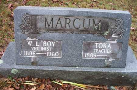 "MARCUM, W L  ""BOY"" - Franklin County, Arkansas 