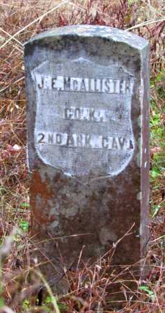 MCALLISTER  (VETERAN UNION), JOSEPH E - Franklin County, Arkansas | JOSEPH E MCALLISTER  (VETERAN UNION) - Arkansas Gravestone Photos