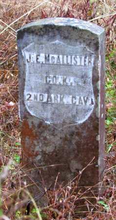 MCALLISTER  (VETERAN UNION), JOSEPH E - Franklin County, Arkansas | JOSEPH E MCALLISTER  (VETERAN UNION) - Arkansas Gravestone Photos