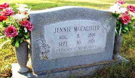 MCCALISTER, JENNIE - Franklin County, Arkansas | JENNIE MCCALISTER - Arkansas Gravestone Photos