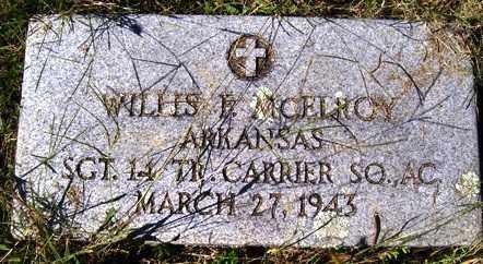 MCELROY (VETERAN), WILLIS F - Franklin County, Arkansas | WILLIS F MCELROY (VETERAN) - Arkansas Gravestone Photos