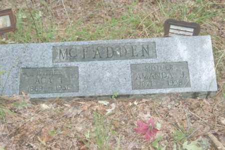 MCFADDEN, AMANDA JANE - Franklin County, Arkansas | AMANDA JANE MCFADDEN - Arkansas Gravestone Photos