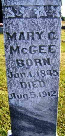 MCCLAIN MCGEE, MARY C. - Franklin County, Arkansas | MARY C. MCCLAIN MCGEE - Arkansas Gravestone Photos
