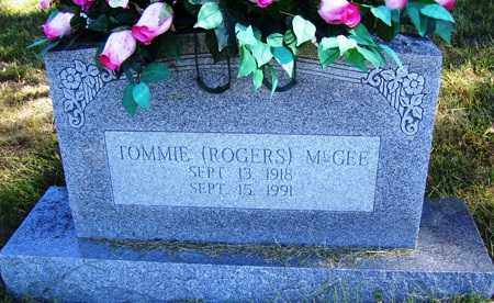 MCGEE, TOMMIE - Franklin County, Arkansas | TOMMIE MCGEE - Arkansas Gravestone Photos