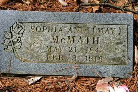 MAY MCMATH, SOPHIA ANN - Franklin County, Arkansas | SOPHIA ANN MAY MCMATH - Arkansas Gravestone Photos