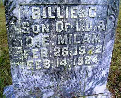MILAM, BILLIE COLEMAN - Franklin County, Arkansas | BILLIE COLEMAN MILAM - Arkansas Gravestone Photos
