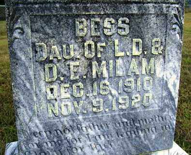 MILAM, BESS - Franklin County, Arkansas | BESS MILAM - Arkansas Gravestone Photos