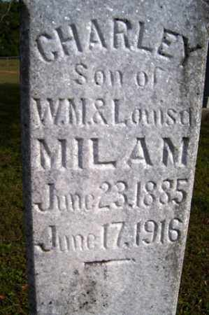 MILAM, CHARLEY - Franklin County, Arkansas | CHARLEY MILAM - Arkansas Gravestone Photos