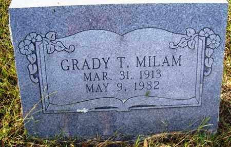 MILAM, GRADY T - Franklin County, Arkansas | GRADY T MILAM - Arkansas Gravestone Photos