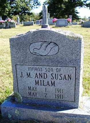 MILAM, INFANT SON - Franklin County, Arkansas | INFANT SON MILAM - Arkansas Gravestone Photos