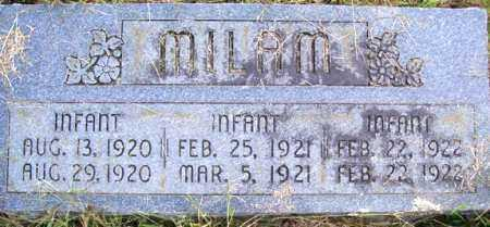 MILAM, INFANT - Franklin County, Arkansas | INFANT MILAM - Arkansas Gravestone Photos