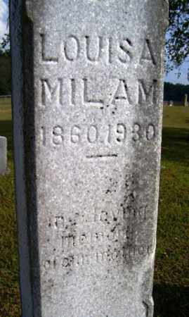 MILAM, LOUISA - Franklin County, Arkansas | LOUISA MILAM - Arkansas Gravestone Photos