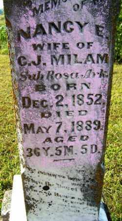 BRIANT MILAM, NANCY E - Franklin County, Arkansas | NANCY E BRIANT MILAM - Arkansas Gravestone Photos