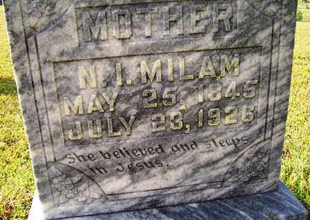 MILAM, NANCY I - Franklin County, Arkansas | NANCY I MILAM - Arkansas Gravestone Photos
