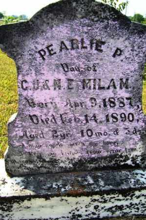 MILAM, PEARLIE P - Franklin County, Arkansas | PEARLIE P MILAM - Arkansas Gravestone Photos