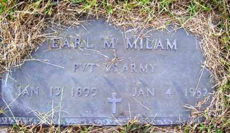 MILAM (VETERAN), EARL M - Franklin County, Arkansas | EARL M MILAM (VETERAN) - Arkansas Gravestone Photos