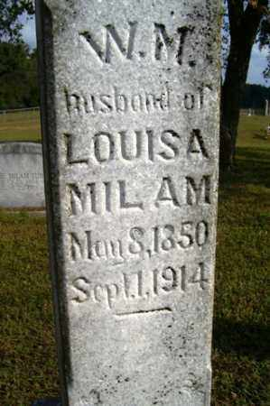 MILAM, W  M - Franklin County, Arkansas | W  M MILAM - Arkansas Gravestone Photos