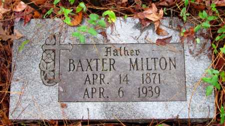 MILTON, BAXTER - Franklin County, Arkansas | BAXTER MILTON - Arkansas Gravestone Photos