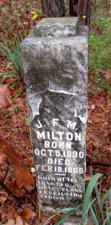 MILTON, J F M - Franklin County, Arkansas | J F M MILTON - Arkansas Gravestone Photos