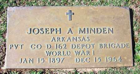 MINDEN (VETERAN WWI), JOSEPH A - Franklin County, Arkansas | JOSEPH A MINDEN (VETERAN WWI) - Arkansas Gravestone Photos