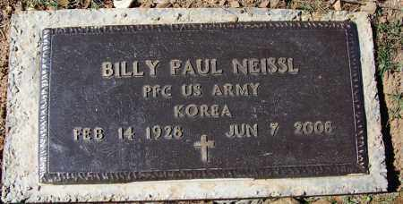NEISSL (VETERAN KOR), BILLY PAUL - Franklin County, Arkansas | BILLY PAUL NEISSL (VETERAN KOR) - Arkansas Gravestone Photos