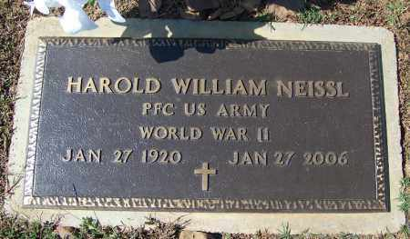 NEISSL (VETERAN WWII), HAROLD WILLIAM - Franklin County, Arkansas | HAROLD WILLIAM NEISSL (VETERAN WWII) - Arkansas Gravestone Photos