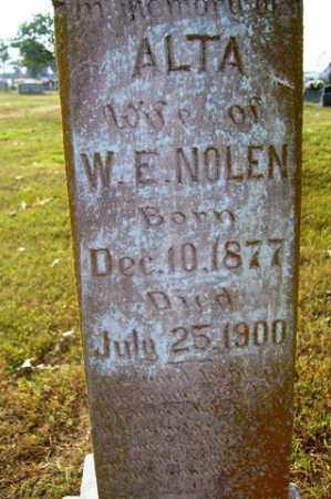 NOLEN, ALTA - Franklin County, Arkansas | ALTA NOLEN - Arkansas Gravestone Photos