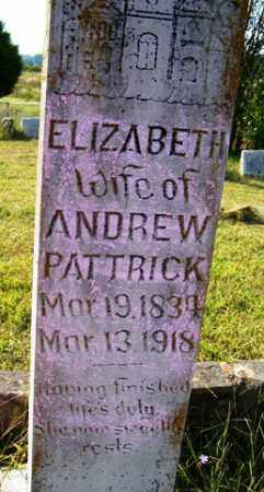 PATRICK, ELIZABETH L. - Franklin County, Arkansas | ELIZABETH L. PATRICK - Arkansas Gravestone Photos