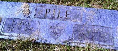PILE, RALEIGH OLIVER - Franklin County, Arkansas | RALEIGH OLIVER PILE - Arkansas Gravestone Photos