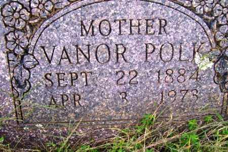 POLK, VANOR - Franklin County, Arkansas | VANOR POLK - Arkansas Gravestone Photos