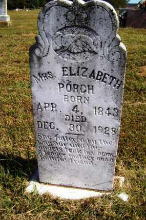 PORCH, ELIZABETH - Franklin County, Arkansas | ELIZABETH PORCH - Arkansas Gravestone Photos