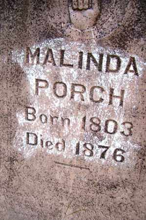 PORCH, MALINDA - Franklin County, Arkansas | MALINDA PORCH - Arkansas Gravestone Photos