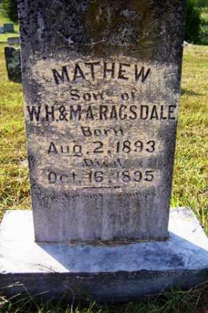 RAGSDALE, MATHEW - Franklin County, Arkansas | MATHEW RAGSDALE - Arkansas Gravestone Photos