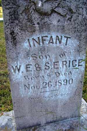 RICE, INFANT SON - Franklin County, Arkansas | INFANT SON RICE - Arkansas Gravestone Photos
