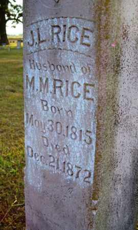 RICE, J. L. - Franklin County, Arkansas | J. L. RICE - Arkansas Gravestone Photos