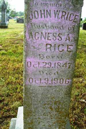 RICE, JOHN W. - Franklin County, Arkansas | JOHN W. RICE - Arkansas Gravestone Photos
